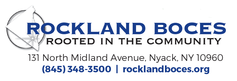 Rockland BOCES Logo with address, phone number and website address